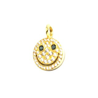 EYEME  Black Eyes smile Pendant Head Full Diamond/K18YG