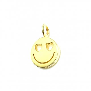 EYEME Heart Eyes smile Pendant Head/K18YG