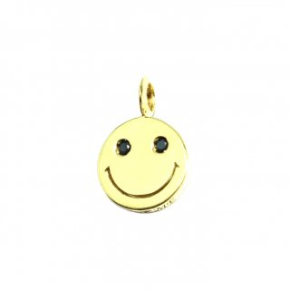 EYEME  Black Eyes smile Pendant Head Diamond/K18YG