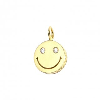 EYEME  White Eyes smile Pendant Head Diamond/K18YG