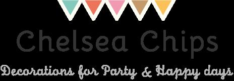 おしゃれなパーティーグッズ専門店・ウェディング・バースデー・パーティー・ディスプレイ|Chelsea Chips チェルシーチップス|