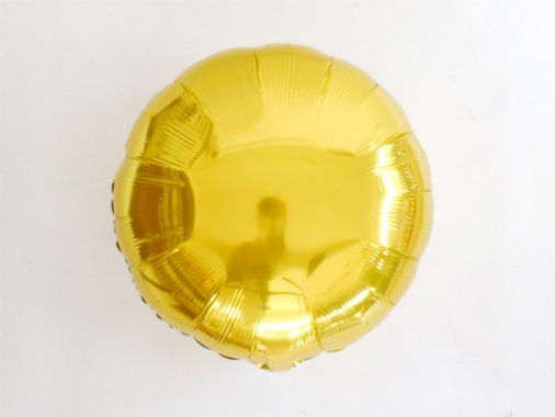 フォイルバルーン ラウンド ゴールド 45cm-Qualatex