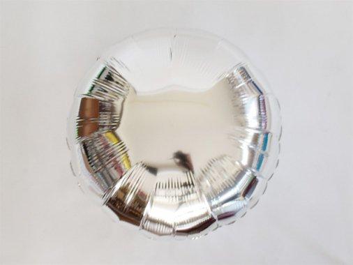 フォイルバルーン ラウンド シルバー 45cm-Qualatex