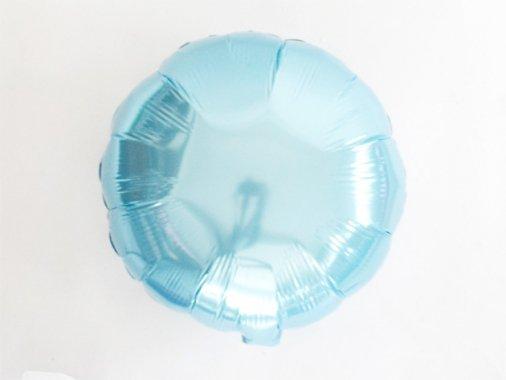 フォイルバルーン ラウンド パールライトブルー 45cm-Qualatex