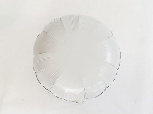 フォイルバルーン ラウンド ホワイト 45cm-Qualatex