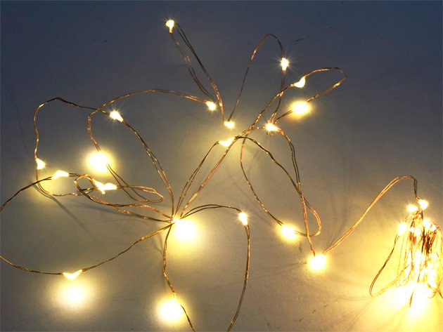 ジュエリーライト LED 【50球・電球色】5m