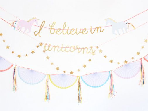 I believe in Unicorns ガーランドキット - Meri Meri