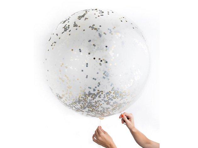 ジャイアント コンフェッティバルーン メタリック(約90cm) - KNOT & BOW