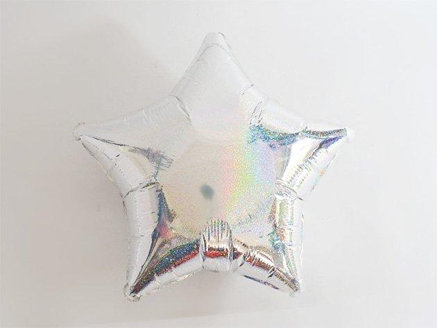 フォイルバルーン ホログラフ シルバースター 48cm-Anagram