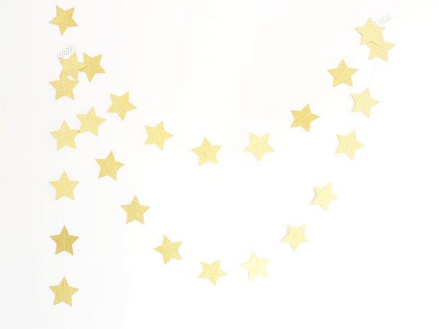 スターガーランド グリッターゴールド 5m - Ginger Ray
