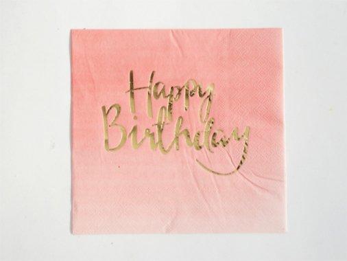 ペーパーナプキン Happy Birthday 20枚入 - Ginger ray