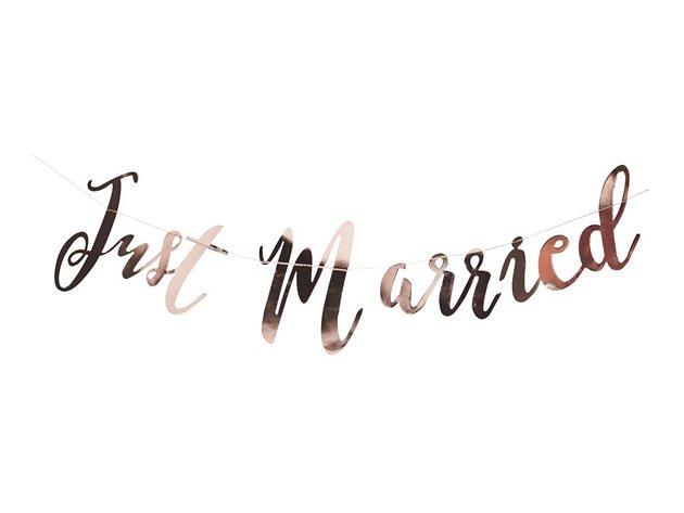 【結婚式ウェディング】Just Married ガーランド ローズゴールド - Ginger Ray