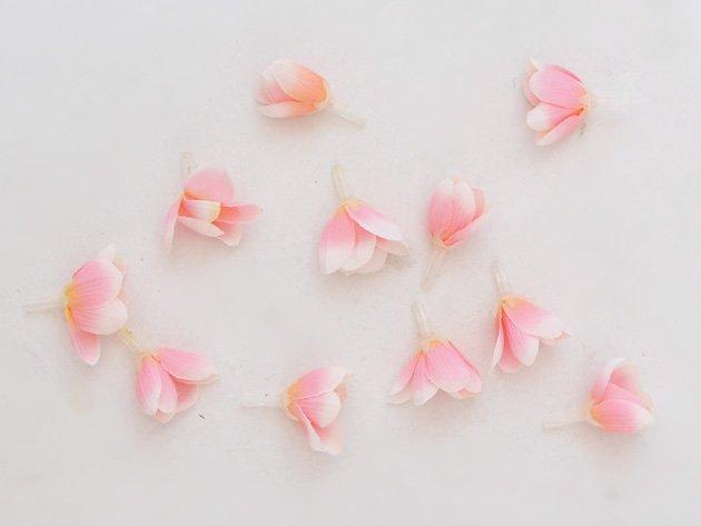 フェイク フラワーヘッド ビーズ - シャワーツリー(ピンク)40個入