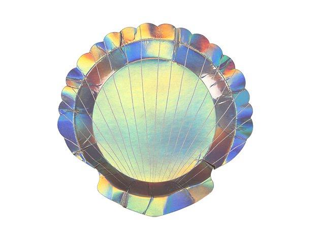 ペーパープレート マーメイドシェル(貝殻) H17.8cm  [8枚入] -MeriMeri