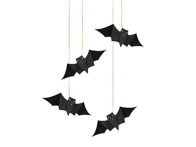 HALLOWEEN BAT(コウモリ8匹) ハンギングデコレーション -MeriMeri