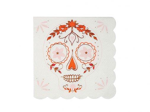 ◆在庫3◆ペーパーナプキン Halloween シュガースカル [16枚入] - MeriMeri