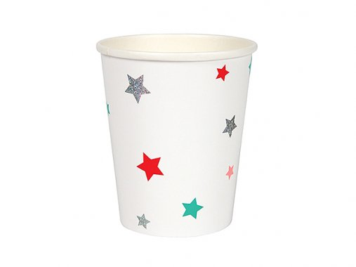 ペーパーカップ ポップカラースター 8個入 -MeriMeri