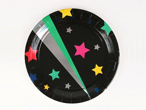 ペーパープレート23cm Disco Star [8枚入] -my little day