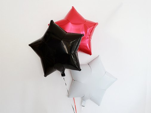 スター型フォイルバルーン【パイレーツカラー】3個set 37.5cm ★送料680円★ガス入りプカプカバルーン