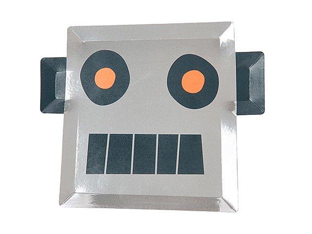ペーパープレート To the moon - ROBOT H21cm  [8枚入] -MeriMeri