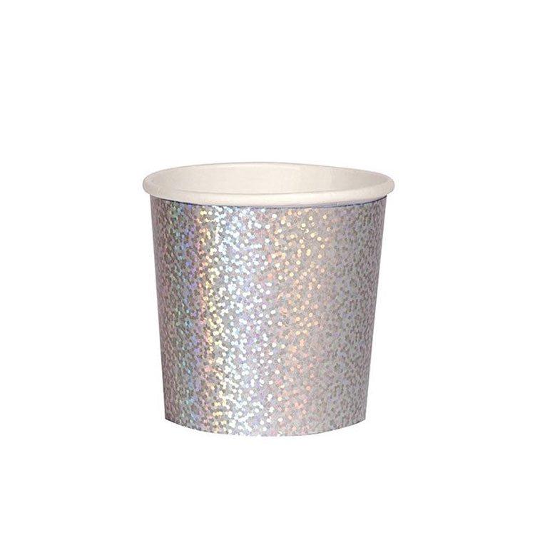ペーパーカップ SMALL タンブラー ホログラフィック [8個入] -MeriMeri