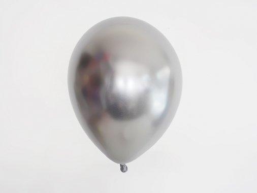 chromeバルーン  メタルシルバー 11'R(23〜28cm)5枚入-Qualatex