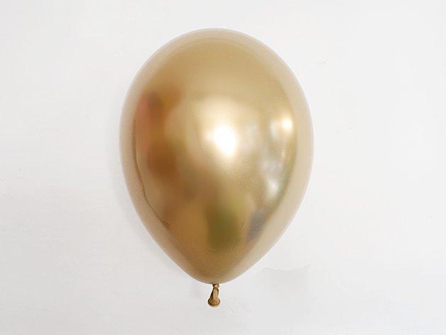 chromeバルーン  メタルゴールド 11'R(23〜28cm)5枚入-Qualatex