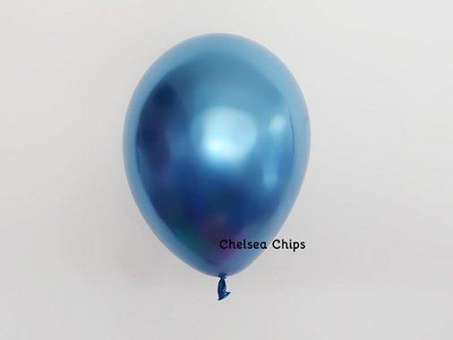chromeバルーン  メタルブルー 11'R(23〜28cm)5枚入-Qualatex
