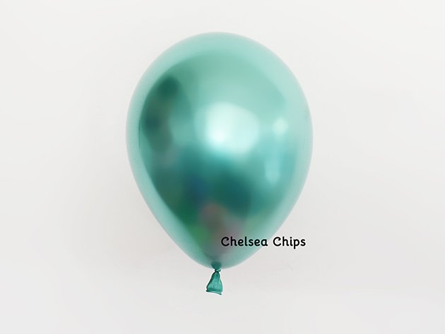chromeバルーン  メタルグリーン 11'R(23〜28cm)5枚入-Qualatex
