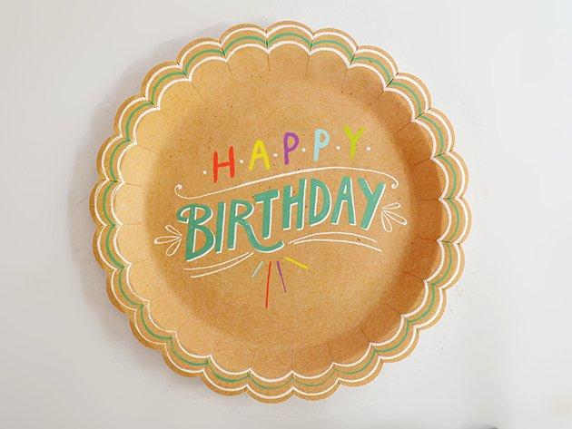 ペーパープレート Happy Birthdayクラフト [8枚入] -Ginger Ray