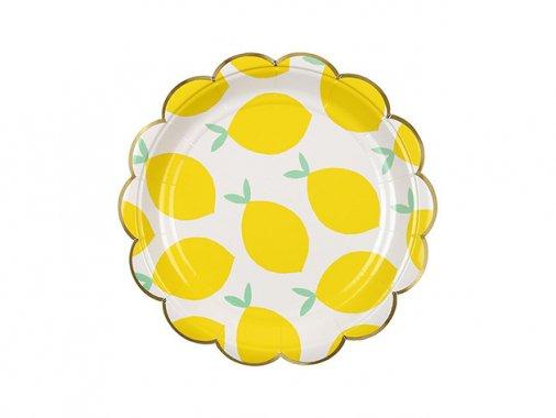 ペーパープレート レモン 17.7cm Toot Sweet [8枚入] -MeriMeri