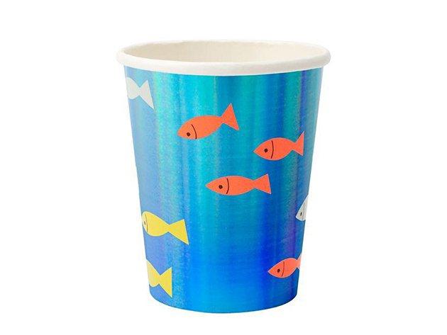 ペーパーカップ UNDER THE SEA フィッシュ 8個入 -MeriMeri
