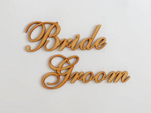 【結婚式】Bride&Groom ウッド席札ネームサイン