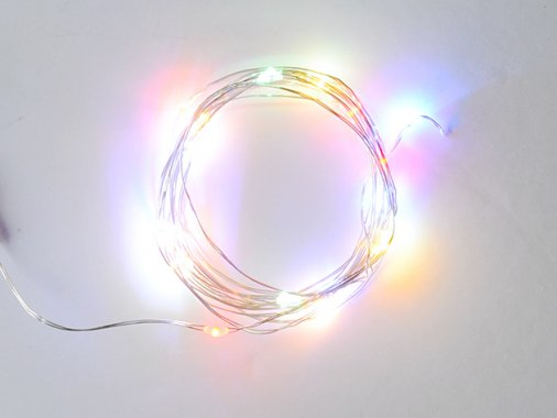 ジュエリーライト LED 【30球・カラー】3m・点灯モード・点滅モード有
