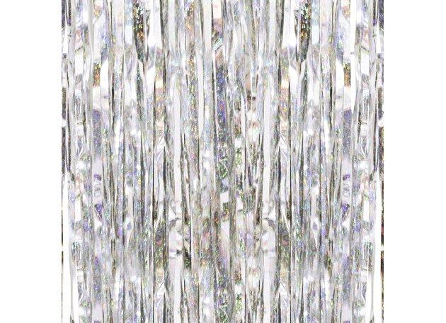 ホログラフィック フリンジカーテン(バックドロップ) 91cm×244cm - GingerRay