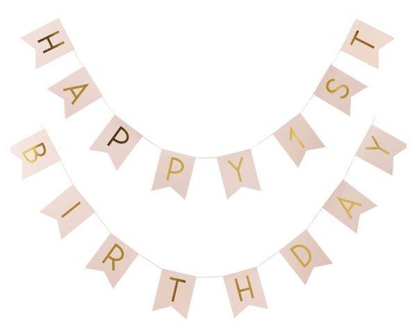 HAPPY 1ST BIRTHDAY 1歳誕生日バナー - Ginger Ray