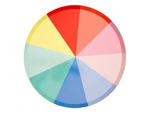 ペーパープレート Rainbowカラー 26cm [8枚入] -MeriMeri