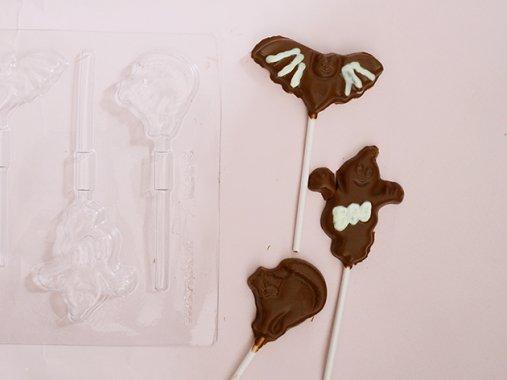 HALLOWEENチョコレート型 ロリポップ ハロウィンキャラクター5型 - CK