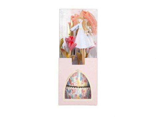 カップケーキキット Magical Princess カップ24枚・トッパー24本-MeriMeri