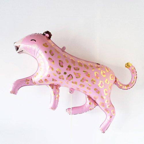 フォイルバルーン ピンク レオパード 103cm