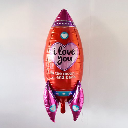 フォイルバルーン ハート ロケット 90cm - betallic