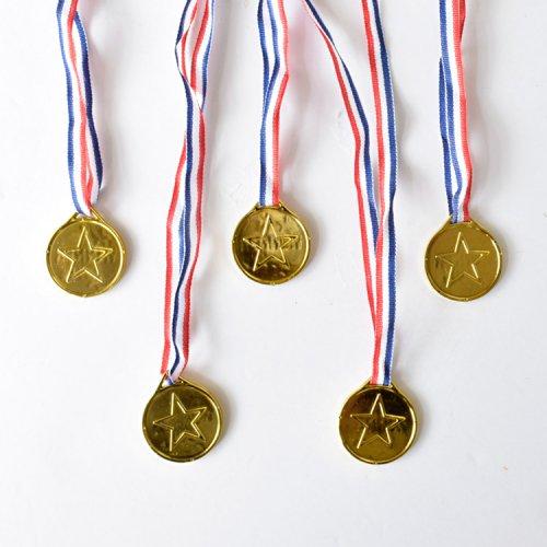 ゴールドメダル(金メダル)5個セット【お祭り景品用アイテム】