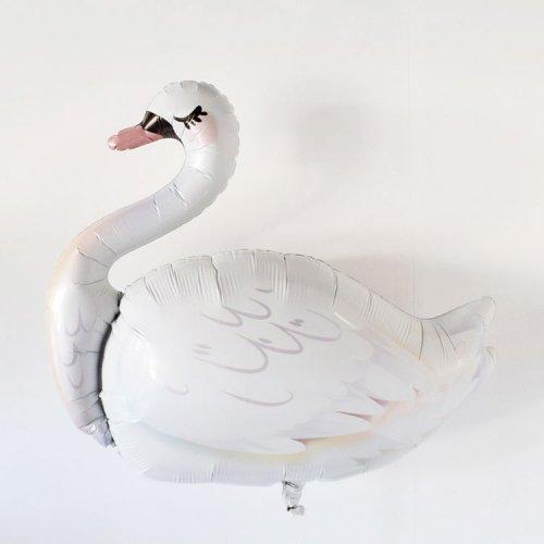フォイルバルーン スワン(白鳥) 74cm - Qualatex