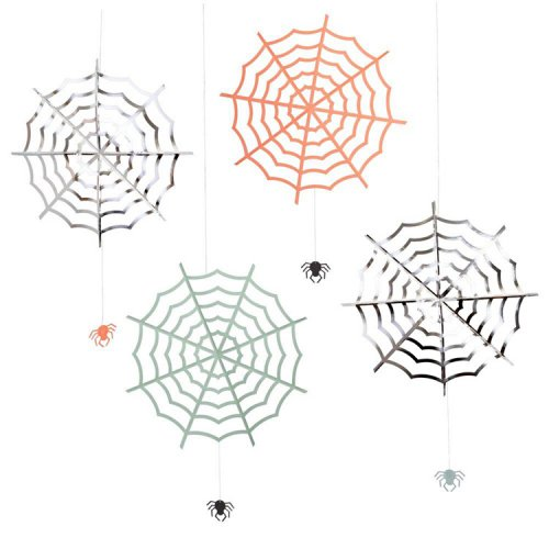 HALLOWEEN クモの巣 & スパイダー ハンギングデコレーション - MeriMeri