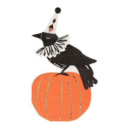 ペーパーナプキン Halloween パンプキン&カラス [16枚入] - MeriMeri