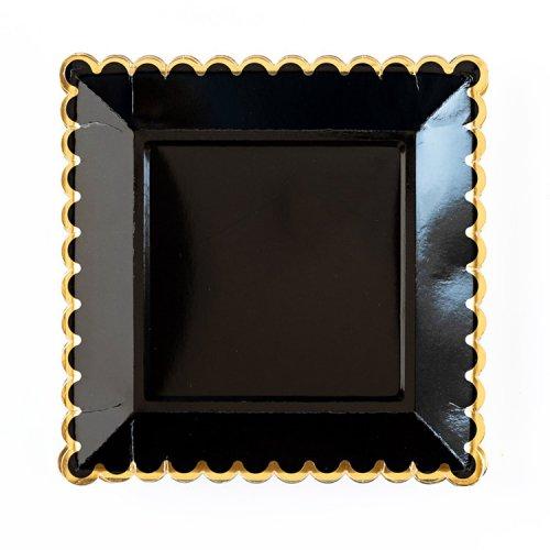 <img class='new_mark_img1' src='https://img.shop-pro.jp/img/new/icons14.gif' style='border:none;display:inline;margin:0px;padding:0px;width:auto;' />★完売★ペーパープレート ブラック&ゴールドライン  [8枚入] - My Mind's Eye