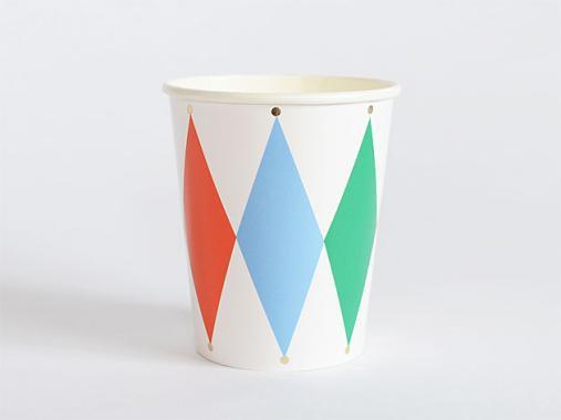 ペーパーカップ Herlequin 8個入 -MeriMeri
