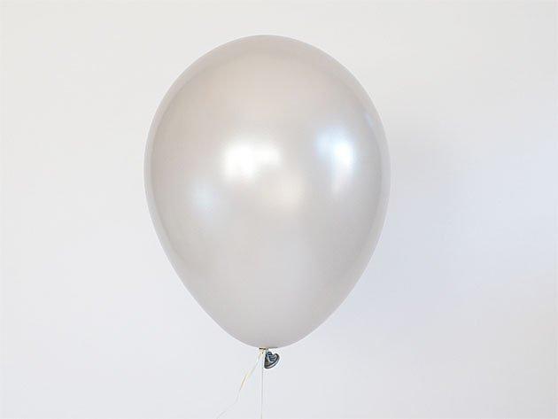 バルーン シルバー 11'R(23~28cm)5枚入-Qualatex
