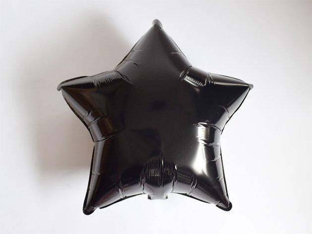 フォイルバルーン ブラックスター 48cm-Qualatex
