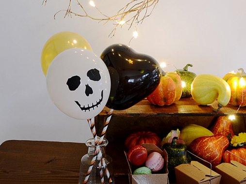 Halloweenミックス ミニバルーン(10-16cm)10枚set-Qualatex
